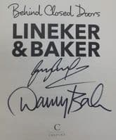 Gary Lineker Danny Baker BEHIND CLOSED DOORS First Edition Double Signed